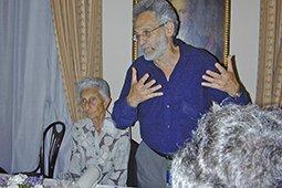 Lea z synem Claudiem Scazzocchiem podczas obchodów jej dziewięćdziesiątych urodzin