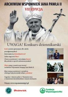 Źródło: VII edycja konkursu Archiwum Wspomnień Jana Pawła II